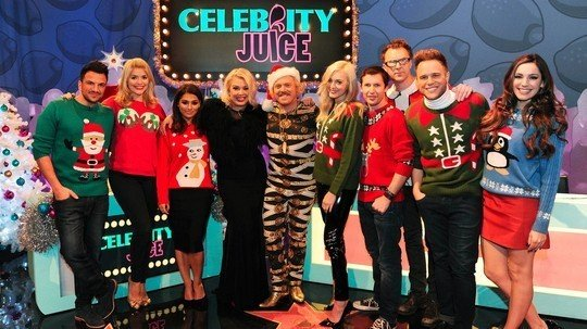 What time is the Celebrity Juice Xmas special and who are ...
